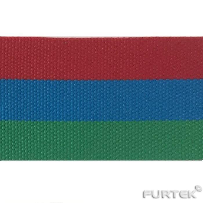 Киперная лента образец цвета красный зеленый синий