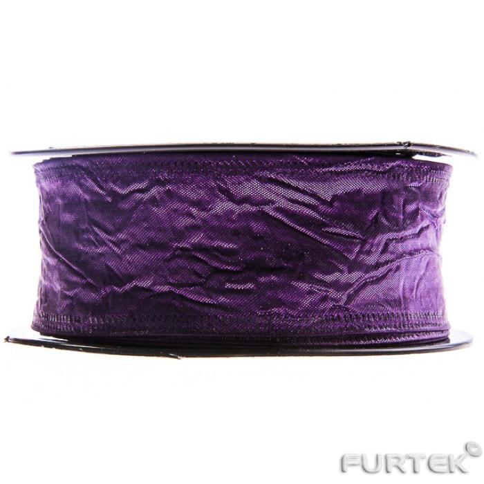Тафтяная лента темно-фиолетового цвета в бабине