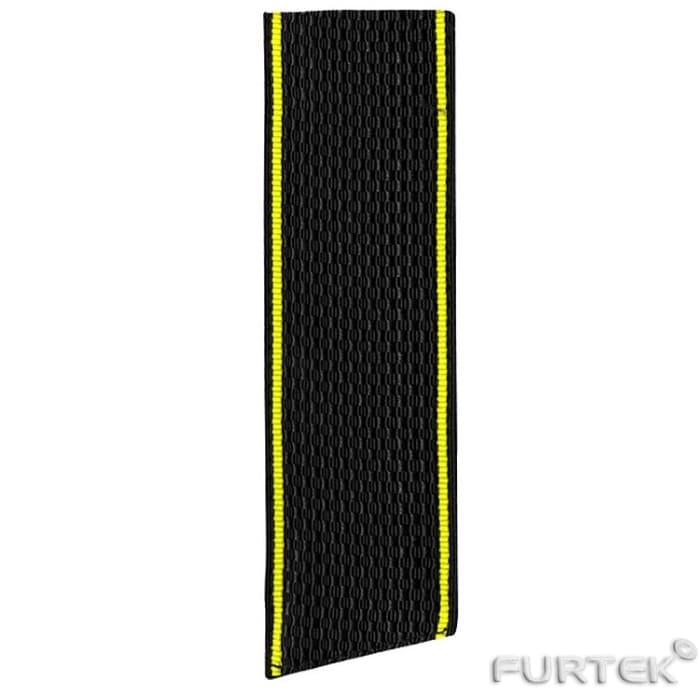 Нейлоновая лента черная с желтой окантовкой