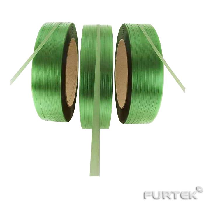 Полиэстровые ленты в рулонах зеленые