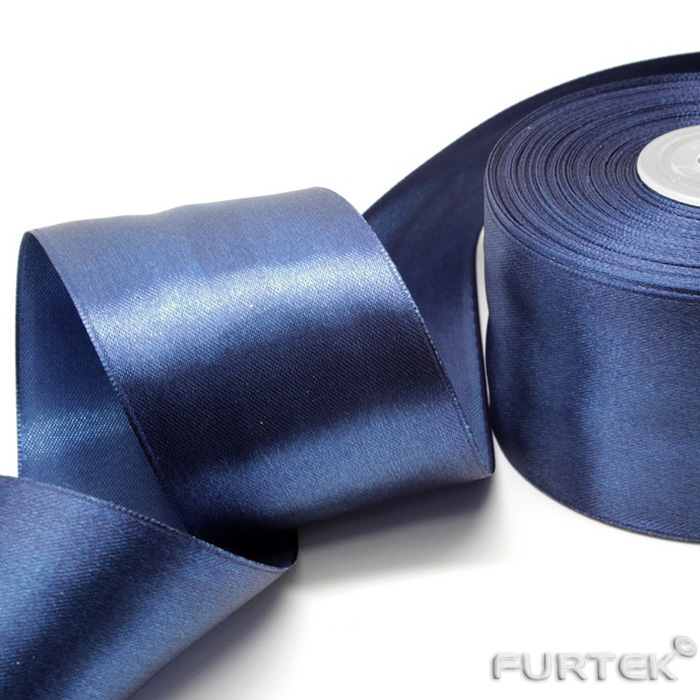 Сатиновая лента темно-синяя премиум класса