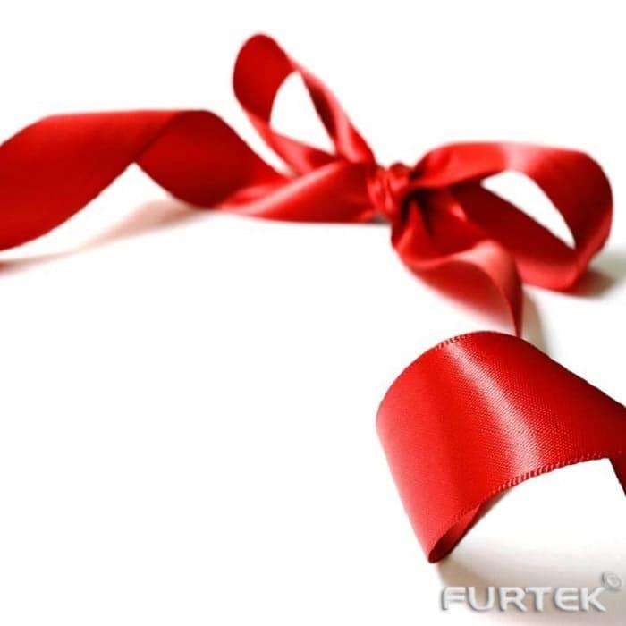 Лента ярко-красная сатиновая