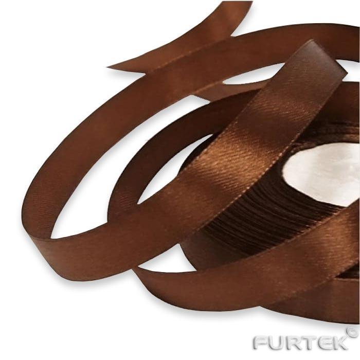 Лента коричневая с тканым краем в рулоне длиной 100 м и шириной 20 мм