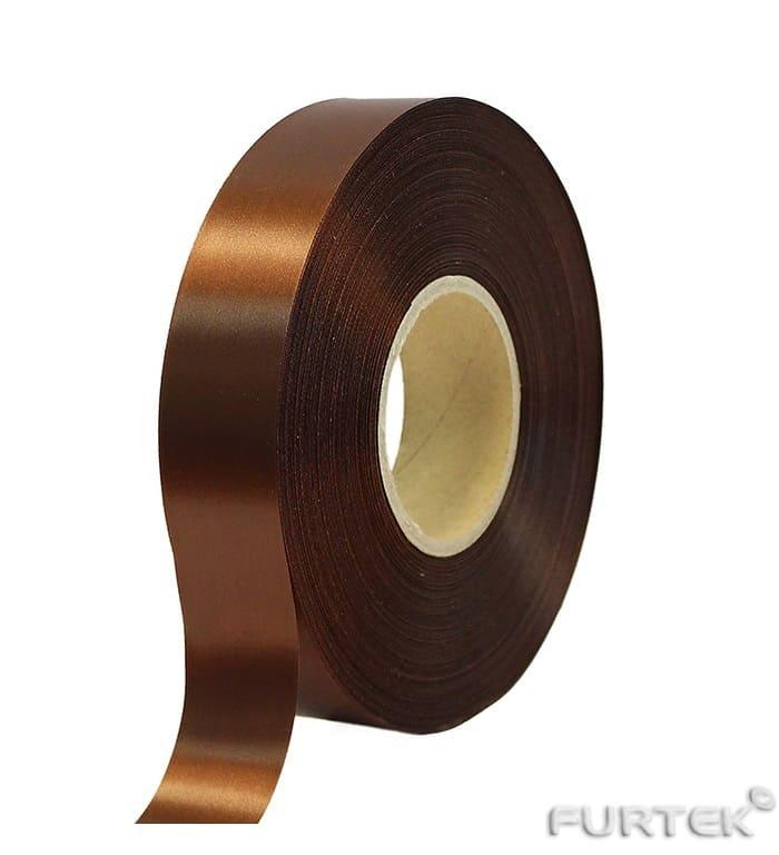 Коричневая лента с тканым краем шириной 20 мм в рулоне 200 м