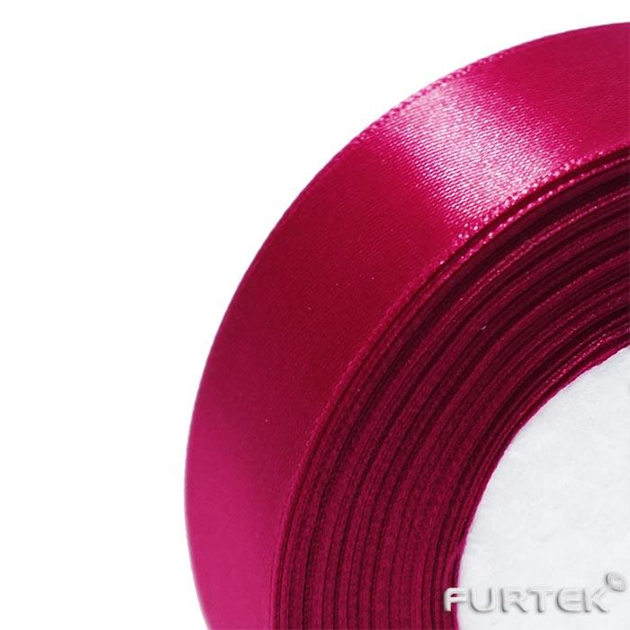 Сатиновая лента двухсторонняя цвета фукции в рулоне длиной 100 м и шириной 20 мм