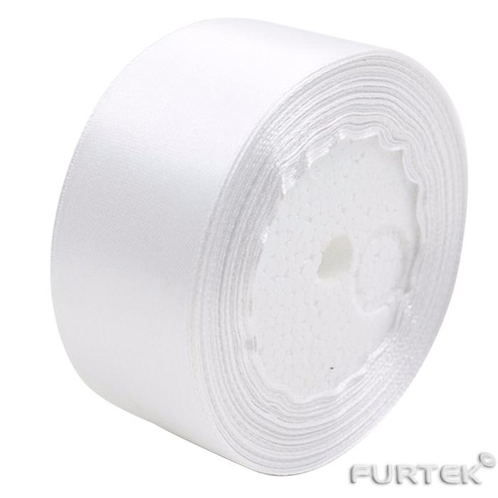 Сатиновая лента белая шириной 40 мм в рулоне 100 м