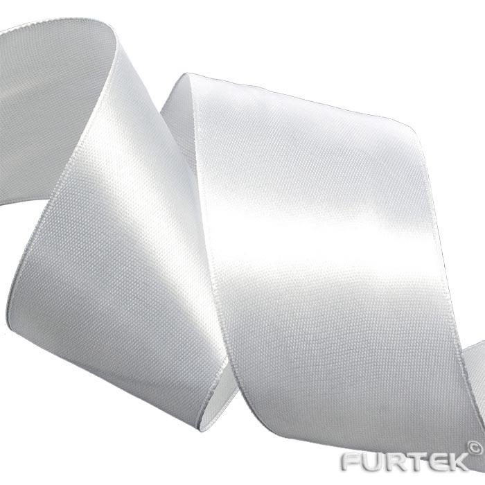 Лента двусторонняя белая  сатиновая продается в рулонах по 100 и 200 м