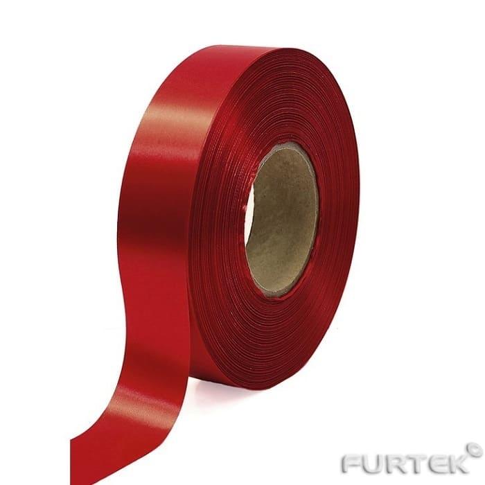 Сатиновая лента ярко-красная двухсторонняя шириной 30 мм продается в рулонах длиной по 100 и 200 м