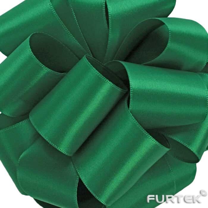 Сатиновая изумрудно-зеленая лента в рулонах по 100, 200 и 400 м.