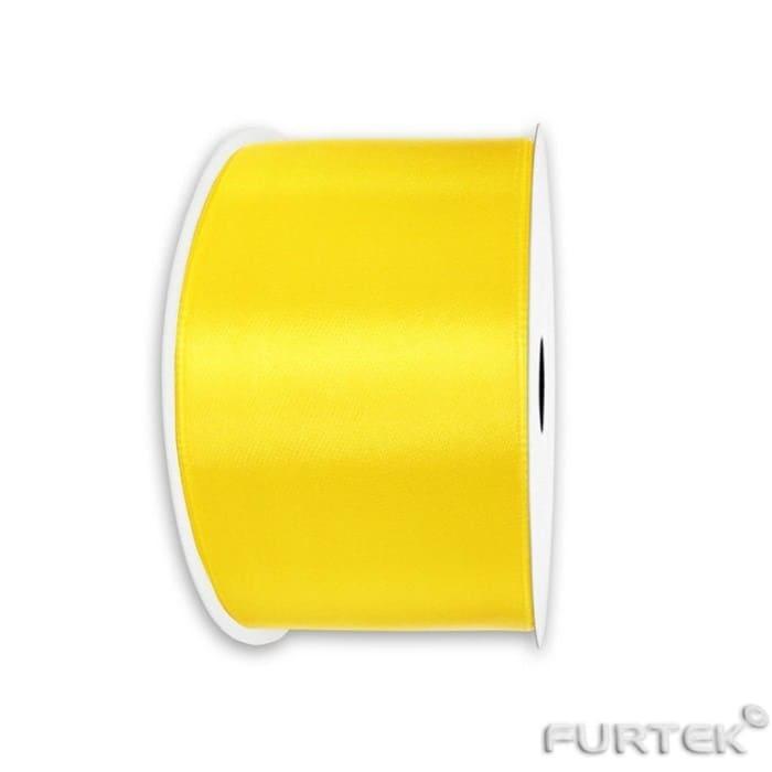 Сатиновая лента желтая продается в рулонах по 100, 200 и 400 м