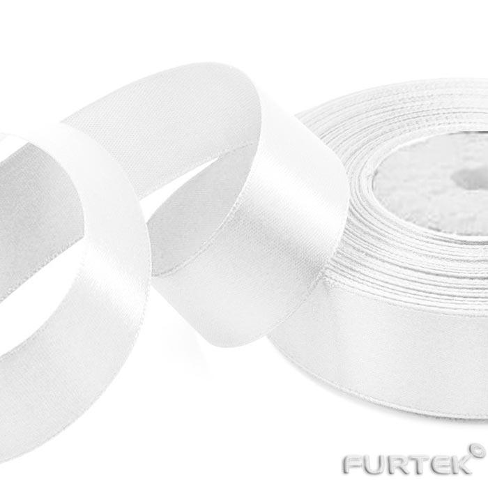 Лента белая сатиновая класса элегант длинами 100 и 200 в рулонах