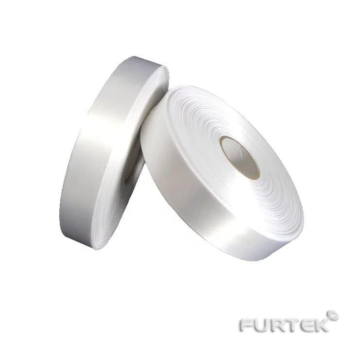 Лента клеевая сатиновая белая с усиленным слоем в рулонах по 100 и 200