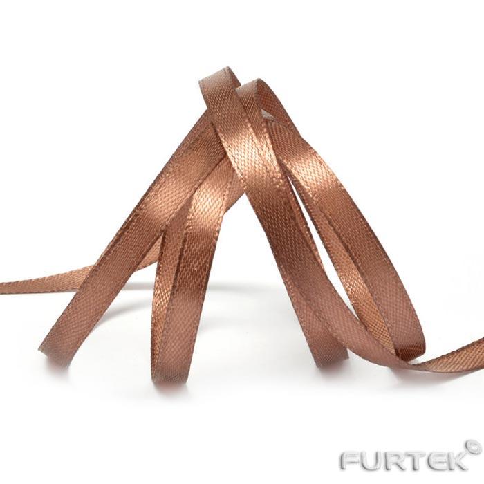 Лента сатиновая коричневая в рулоне 400 м