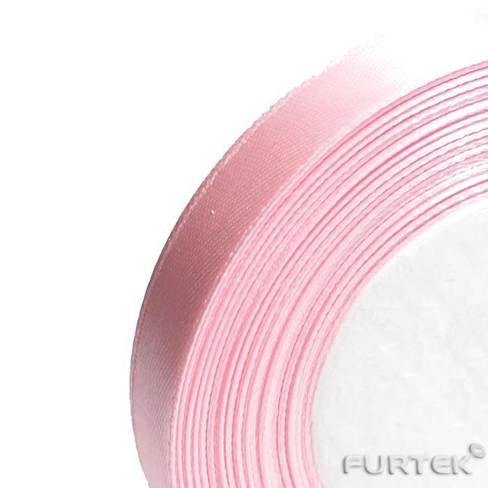 Сатиновая лента в рулонах светло-розовая 100 и 200 м.