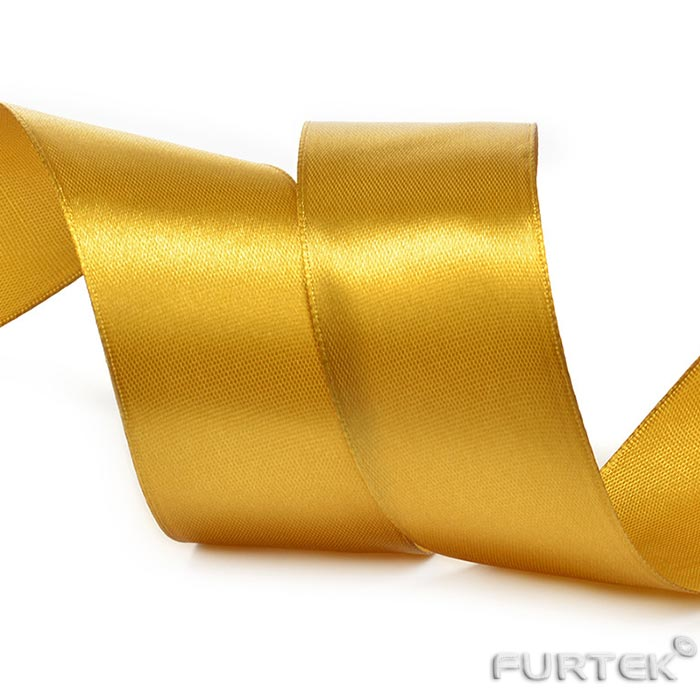 Лента сатиновая золотистая заказать в рулонах по 100, 200 и 400 м