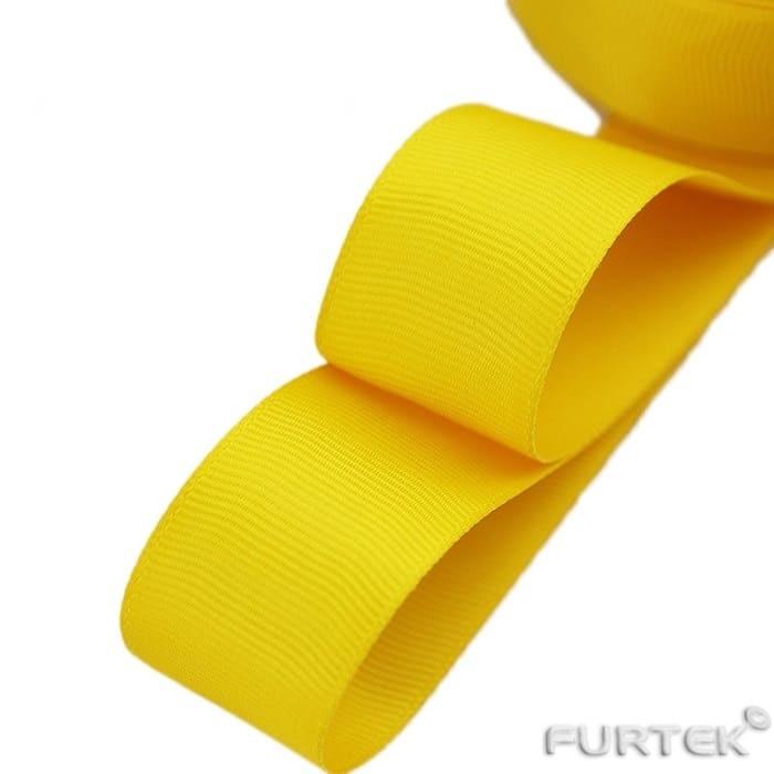 Лента сатиновая жетло-золотая поставляется в рулонах по 100, 200 и 400 м