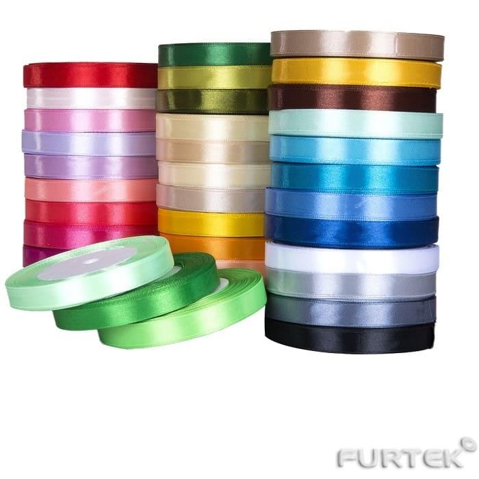 Сатиновая лента разных цветов в ассортименте