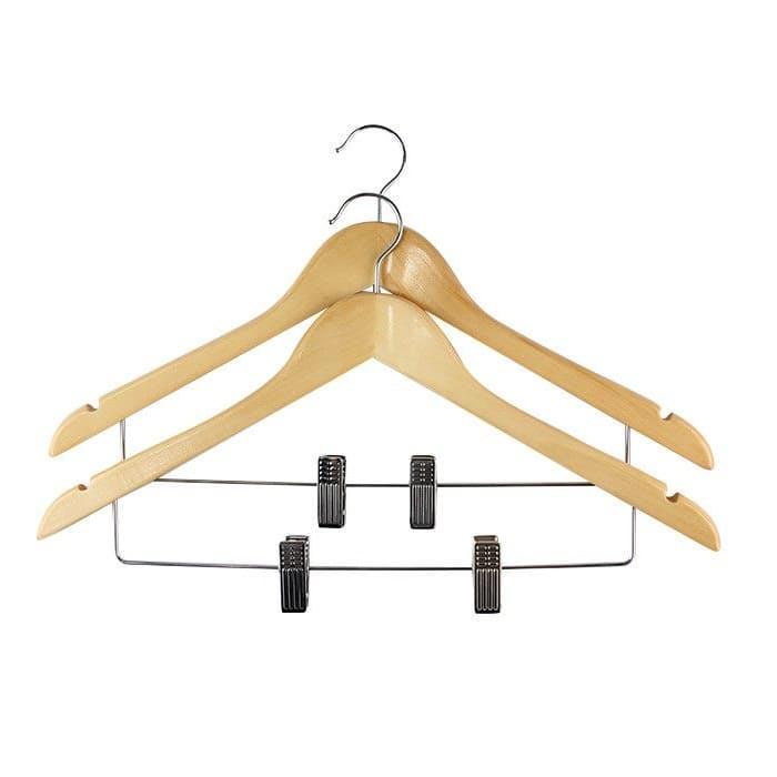 вешалка для брюк металлическая с зажимами