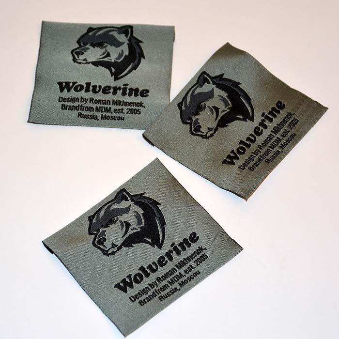 Жаккардовые этикетки с эмблемой медведя и надписью  Volverine
