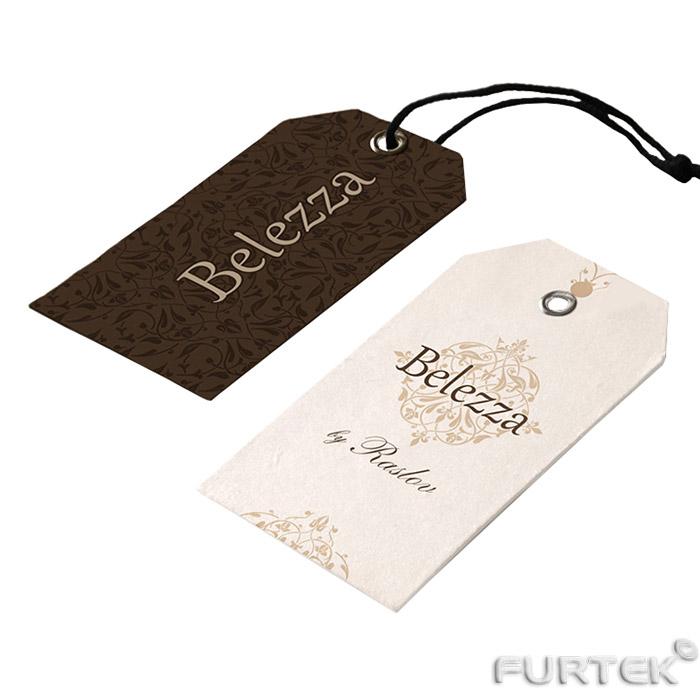 Ярлыки для одежды коричневый и белый